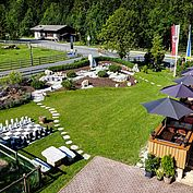 Gastgarten zum Verweilen im Landhotel Strasserwirt