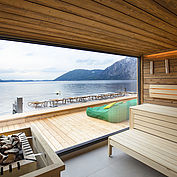neues See Spa mit Panoramablick