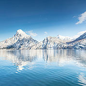 Winterpanorama Traunsee