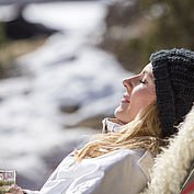 Energietanken in der Wintersonne