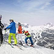 Skifahren mit tollem Panoramblick