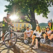Cycling family in Austria