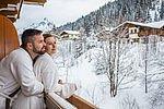 Ausblick vom Zimmer am Balkon im Landhotel Alpenhof