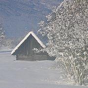 © Landhotel Stofflerwirt - Ein Heuschuppen im Winter