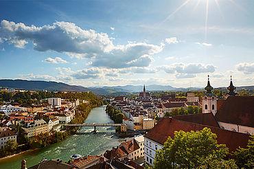 Steyrer Altstadt am Zusammenfluss Enns - Steyr, (c) www.iconic-turn