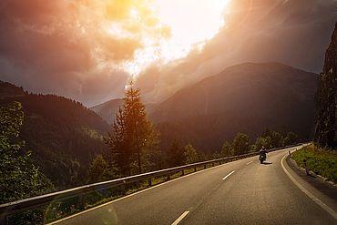 Abenstimmung Motorrad in Oberösterreich
