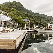 Steg beim Seehotel Das Traunsee