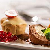 Dessert Parfait Törtchen Johannisbeeren