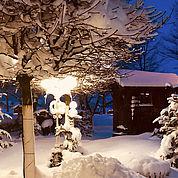 Hotel Eichingerbauer****S Mondsee Garten im Winter