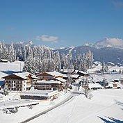 Hotelansicht Winter Naturhotel Wagrain