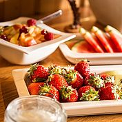 Obsalat zum Frühstück im Landhotel Eichingerbauer