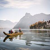 Landhotel Das Traunsee - Bootsfahrt mit dem Hausherrn Wolfgang Gröller