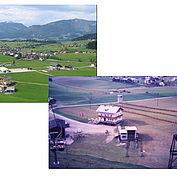 luftaufnahme landhotel gasthof traunstein einst und heute