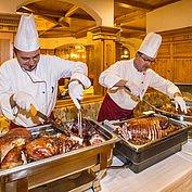 Buffetabend mit allerlei Köstlichkeiten im Landhotel Alpenhof