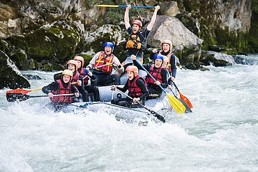 Rafting im Salzburger Saalachtal © Motioncenter -
