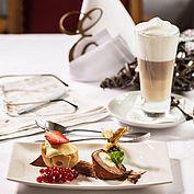 Dessert Törtchen Eis Parfait Milchkaffee