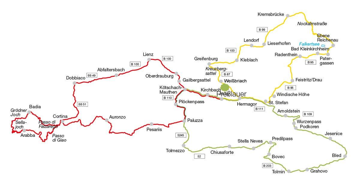 Die schönsten Motorrad-Touren in und um Kärnten