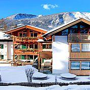 Hotelansicht Landhotel Schütterbad im Winter