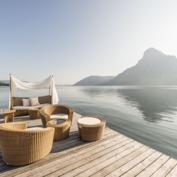 Entspannung am See am Steg - Seehotel Das Traunsee