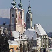 Die Stadt Steyr Winteraufnahme im Schnee