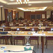 """Seminarraum """"Heideboden"""" mit Klassenzimmerbestuhlung"""