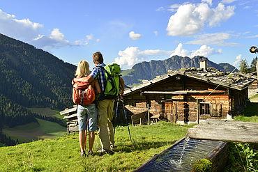 Wanderpaar bei Stettauer Alm Alpbach © Alpbachtal Seenland Tourismus
