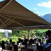 © Landhotel Stockerwirt - neue Terrasse zum Entspannen bei Sonnenschein