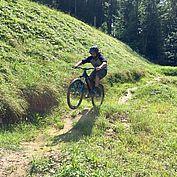 Der Juniorchef bei seiner Leidenschaft - dem Biken