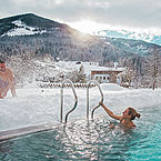 Freibad mit 31 Grad im Landhotel Alpenhof