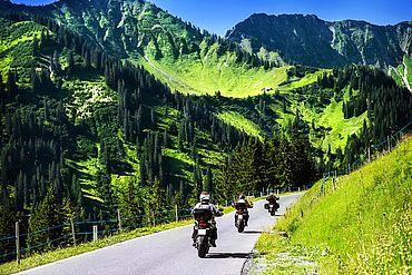 Motorradtour durch die Alpen in Tirol