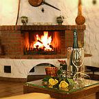 Kaminfeuer im Landhotel Schütterbad