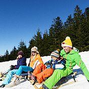 © TVB Abtenau - Winterrodeln ein Spass für die ganze Familie