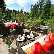 Terrasse im Landhotel Schütterbad