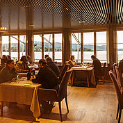 Gefeierte Haubenküche entspannt genießen - im Restaurant Bootshaus