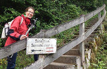 Einstieg in den Wanderweg zum Sonnstein