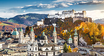 Kulturstadt Salzburg eingebettet in malerische Landschaften