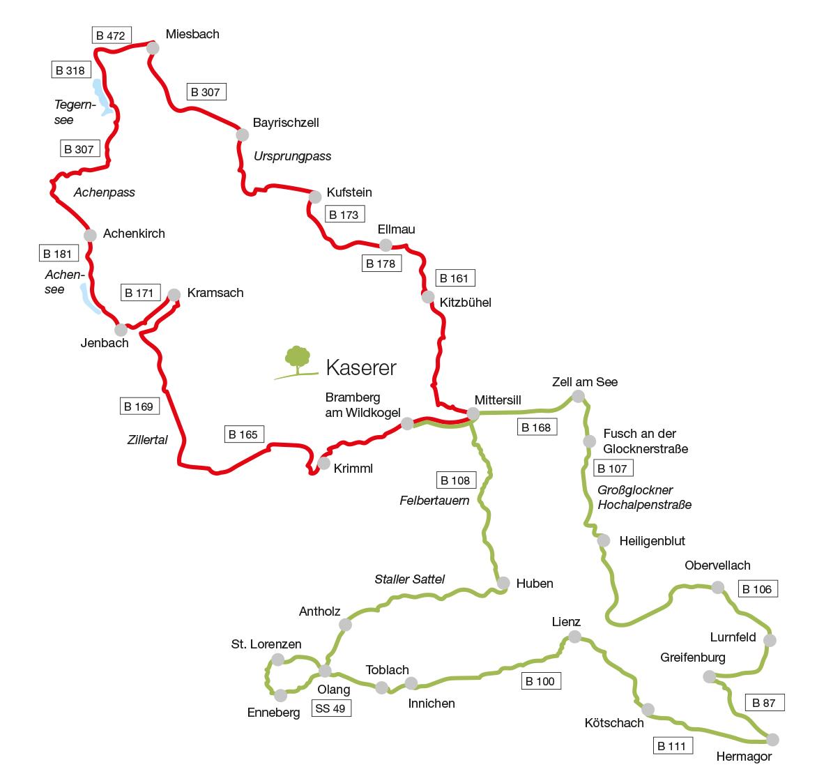 Die schönsten Motorrad-Touren von den Hohen Tauern bis zum Tegernsee
